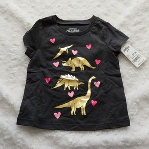 *B2G1* OshKosh Baby Girl Dinosaur T-shirt NWT